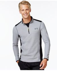 Under Armour - Gray Cgi 1/4 Zip Performance Sweatshirt for Men - Lyst
