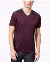 Alfani - Purple Men's Pieced V-neck Performance T-shirt for Men - Lyst