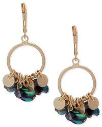 Lonna & Lilly - Metallic Gold-tone Abalone Sheet Shaky Drop Earrings - Lyst