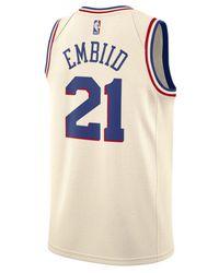 56dc34dbf Lyst - adidas Joel Embiid Philadelphia 76ers City Swingman Jersey in ...