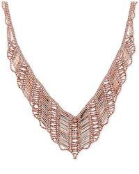 Macy's - Pink V-shape Drape Collar Necklace In 14k Rose Gold - Lyst