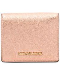 Michael Kors - Pink Money Pieces Flap Card Holder - Lyst