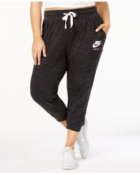 Nike - Black Plus Size Gym Vintage Capri Pants - Lyst