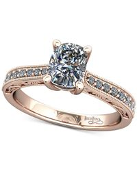 Macy's - Pink Diamond Filigree Mount Setting (1/6 Ct. T.w.) In 14k Rose Gold - Lyst