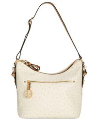 Giani Bernini - Metallic Embossed Faux Ostrich Hobo, Created For Macy's - Lyst