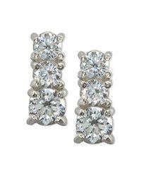 Giani Bernini - Metallic Cubic Zirconia Graduated Stud Earrings In Sterling Silver, Created For Macy's - Lyst