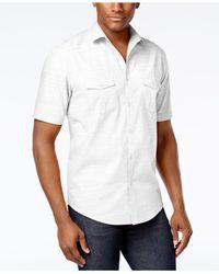 Alfani - Black Warren Solid Textured Shirt for Men - Lyst