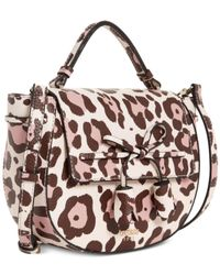 Guess Multicolor Leila Top Handle Small Satchel