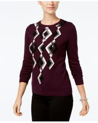 Charter Club - Red Argyle Sweater, Created For Macy's - Lyst