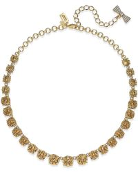 Kate Spade - Metallic 12k Gold-plated Pink Crystal Necklace - Lyst