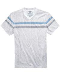 American Rag - White Men's Striped Heathered T-shirt for Men - Lyst