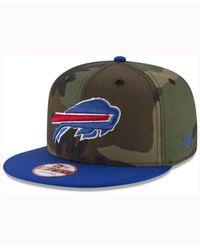 KTZ Green Buffalo Bills Camo Two Tone 9fifty Snapback Cap for men