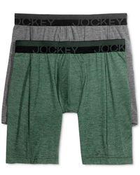 Jockey - Green Sport Outdoor 2 Pack Midway Briefs for Men - Lyst