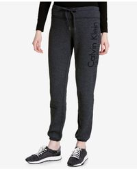 Calvin Klein - Gray Slim Fleece Sweatpants - Lyst
