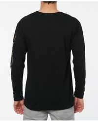 O'neill Sportswear - Black Wind Jammer Long Sleeve T-shirt With Sleeve Graphics for Men - Lyst
