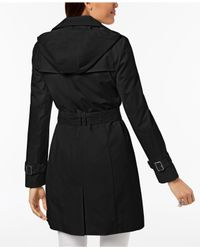 Cole Haan - Black Belted Buckle Trench Coat - Lyst