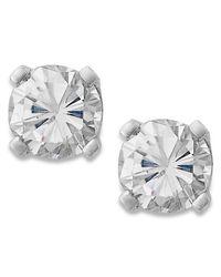 Macy's - Round-cut Diamond Stud Earrings In 10k White Gold (1/4 Ct. T.w.) - Lyst