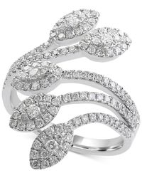 Effy Collection - Metallic Diamond Leaf Ring (9/10 Ct. T.w.) In 14k White Gold - Lyst