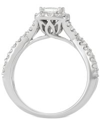 Macy's - Multicolor Diamond Princess Twist Engagement Ring (1 Ct. T.w.) In 14k White Gold - Lyst