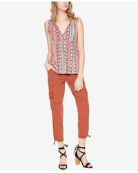 Sanctuary | Red Palmetto Printed Top | Lyst