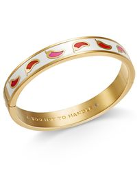 Kate Spade | Metallic Gold-tone Chili Pepper Bangle Bracelet | Lyst