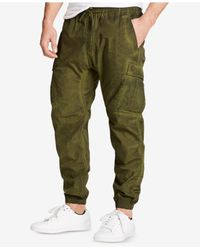 William Rast - Green Men's Tapered Cargo Pants for Men - Lyst