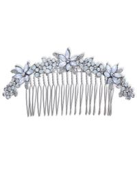 INC International Concepts - Metallic Silver-tone Stone & Crystal Flower Hair Comb - Lyst