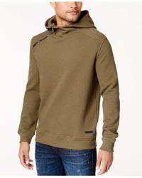 Sean John - Multicolor Men's Textured Elbow-patch Hoodie for Men - Lyst