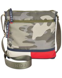 Tommy Hilfiger - Green Nori Camo Small Crossbody - Lyst