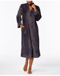Miss Elaine | Gray Brushed-fleece Robe | Lyst