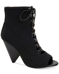 BCBGeneration - Black Alicia Lace-up Booties - Lyst