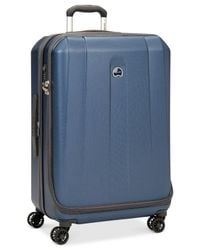 "Delsey | Blue Helium Shadow 3.0 21"" Carry-on Hardside Spinner Suitcase for Men 