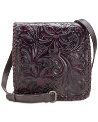 Patricia Nash - Multicolor Granada Burnished Tooled Leather Crossbody - Lyst