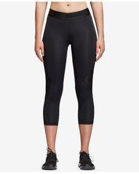 Adidas Black Alphaskin Climacool® Cropped Leggings