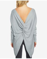 1.STATE - Gray Knotted Rib-knit Sweater - Lyst