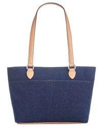 Giani Bernini - Blue Denim Conflap Tote, Created For Macy's - Lyst