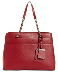 Guess - Red Katiana Chain Strap Girlfriend Shoulder Bag, A Macy's Exclusive Style - Lyst