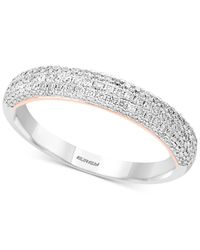 Effy Collection - Metallic Pavé Classica By Effy® Diamond Pavé Band (1/2 Ct. T.w.) In 14k White & Rose Gold - Lyst
