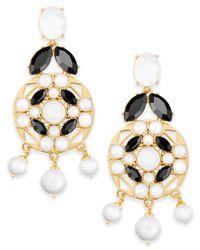 Kate Spade | Metallic Gold-tone Multi-stone Drop Earrings | Lyst