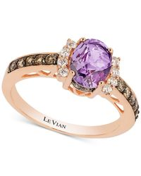 Le Vian - Metallic Grape Amethysttm (9/10 Ct. T.w.) And Diamond (3/8 Ct. T.w.) Ring In 14k Rose Gold - Lyst