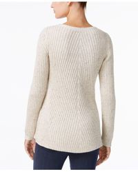 Style & Co. - Gray Multi-directional Ribbed Sweater - Lyst
