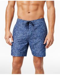 8f5029ec65fd1 Tommy Hilfiger. Men's Glenarden Foliage Swim Bottom Board Shorts Blue 2xl