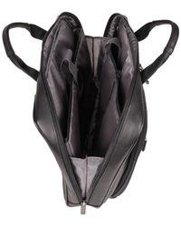 "Kenneth Cole Reaction - Black Point Of De-port-ure Columbian Leather 16"" Computer Portfolio for Men - Lyst"
