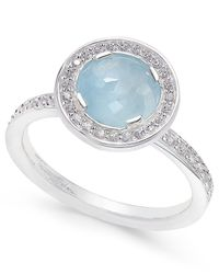 Thomas Sabo | Metallic Light Of Luna Milky Aquamarine Ring (1-5/8 Ct. T.w.) In Sterling Silver | Lyst