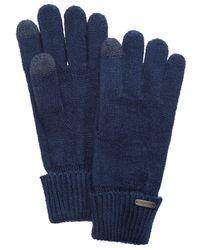 Steve Madden - Blue Solid Boyfriend Itouch Gloves - Lyst