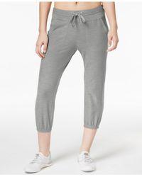 Calvin Klein - Gray Cropped Pants - Lyst