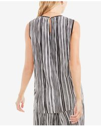 Vince Camuto | Black Striped Top | Lyst