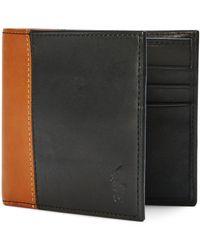 Polo Ralph Lauren - Black Two-toned Leather Billfold for Men - Lyst