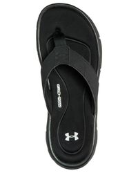 Under Armour - Black Men's Ignite Ii Thong Flip-flop Athletic Sandals From Finish Line for Men - Lyst