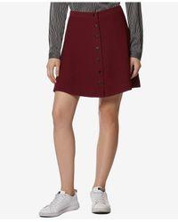 Avec Les Filles - Red Button-front A-line Mini Skirt - Lyst